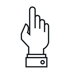 hand human touch isolated icon vector image