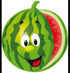 Happy melon cartoon vector