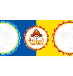 happy navratri festival banner design vector image