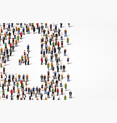large group of people in number 4 four form vector image
