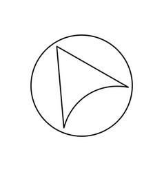 left navigation cursor icon vector image