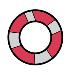 lifebuoy protection equipment for swimming vector image