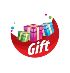 Logo box with gifts vector