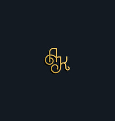Luxury fashion initial letter ak logo vector