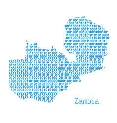 Map zambia vector