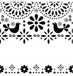 Mexican folk art greeting card retro vector
