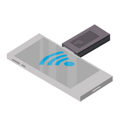 Mobile usb internet technology isometric concept vector