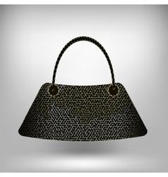 Modern Handbag Isolated vector