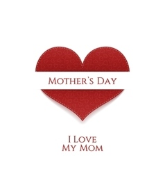 Mothers Day Heart greeting Banner vector image