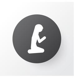 Muslim female icon symbol premium quality vector