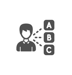 Opinion icon select answer sign vector