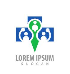 people cross logo concept design symbol graphic vector image