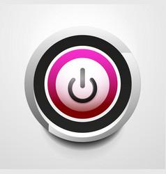 power button technology logo digital art techno vector image