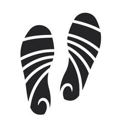 Print shoe iconblack icon vector