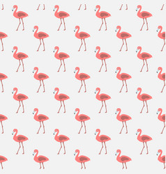 seamless pattern with pink flamingos vector image