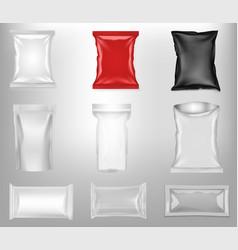 Set blank plastic bags eps10 vector