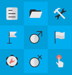 Set simple design icons vector