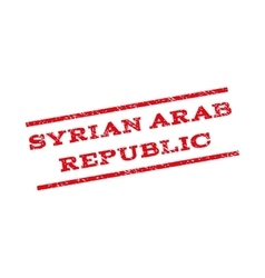 Syrian Arab Republic Watermark Stamp vector image