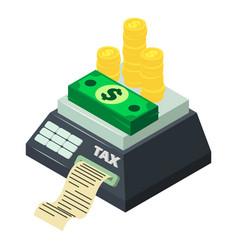Tax machine icon isometric style vector