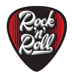 template with stylish design guitar plectrum vector image