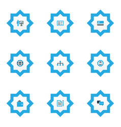Trade icons colored set with presenting man vector