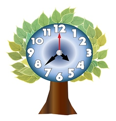 tree and clock vector image