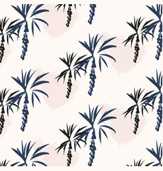 tropical palm leaf background floral with palm vector image