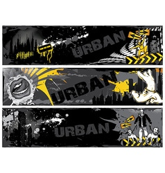 Urban web banners vector