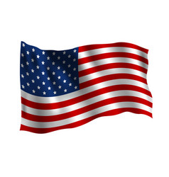 Usa flag isolated on white background vector
