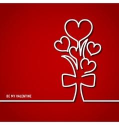 Valentine Outline 1 vector image