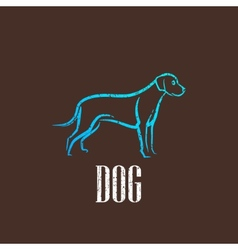 vintage with a dog vector image