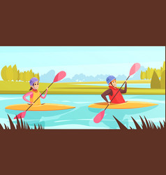 water sports vector image