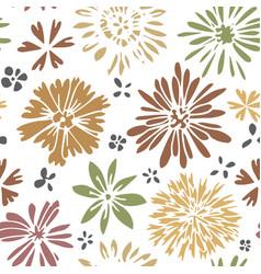 wildflower in blossom blooming flowers print vector image