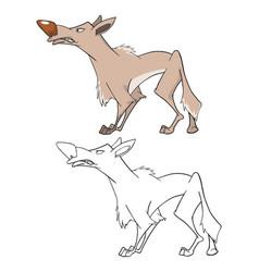 wolf cartoon character vector image