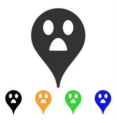 Wonder smiley map marker icon vector