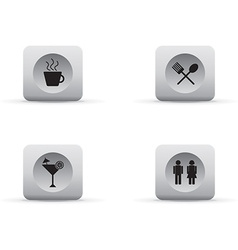 Work and leisure icons vector