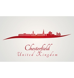 Chesterfield skyline in red vector image vector image