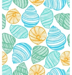 colorful background with seashells vector image vector image
