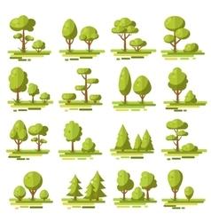 Forest Flat Elements Set vector image vector image