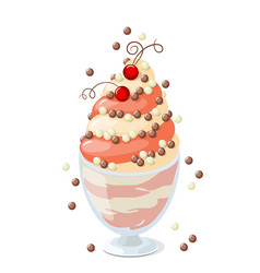 isolated currant frozen yogurt on white vector image