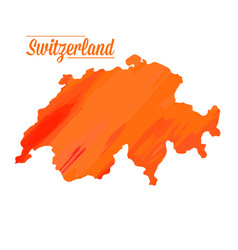 Isolated swiss map vector
