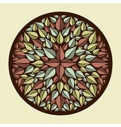 Leaves yoga mandala vector image vector image