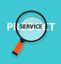 product or service concept business analysis vector image