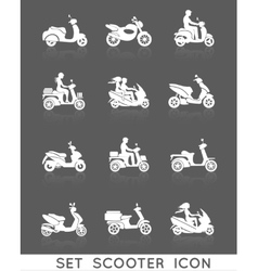 Scooter Icons Set vector image vector image