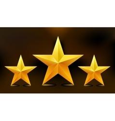the three gold stars vector image