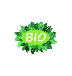 bio green logo vector image