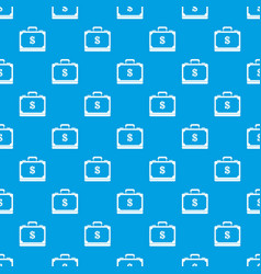 briefcase full of money pattern seamless blue vector image vector image
