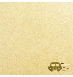 Car road and paper vector image vector image