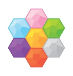 Colorful gemstones simple game objects set vector image vector image