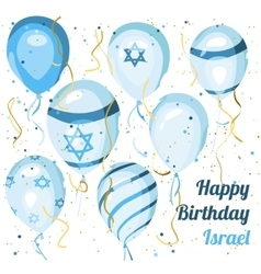 Israel independence day Happy birthday Balloons vector image